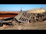 Сирия. Уничтожение конвоя боевиков в Сирии 25.12.2015