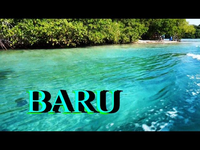 COLOMBIA 💜❤️isla Barú 💜❤️ Playa Blanca 💜❤️ between mangroves and white sand Caribbean beach👙🐠 👣🍉🍍💋🚣👍