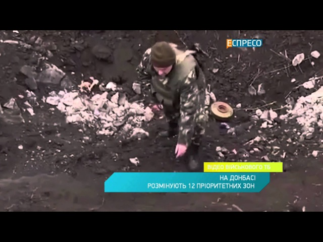 На Донбасі розмінують 12 пріоритетних зон