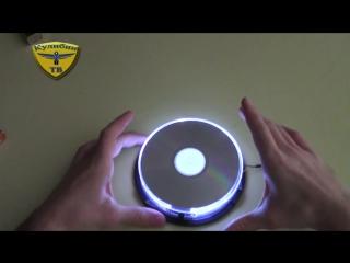 Светильник из коробки для CD-дисков