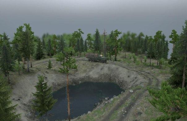 КАРТА «FOREST PARK» для Spintires - Скриншот 1