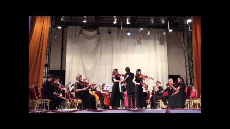 Bach Konzert fuer zwei Violinen mit Orchester D moll.Chamber Orchestra of Musorgsky Musical College