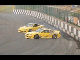 Slammed S14 Clutch Kick amp Flick Entry at Driftland