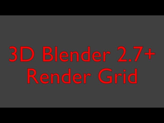 Blender 2.77 Render Grid