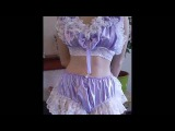 Crossdresser Sissy Training Bra and Knickers