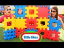 Giant Waffle Blocks Surprise Toys Huge Little Tikes Play House Tunnel Tower by DisneyCarToys