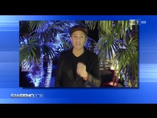 Videomessaggio di Fiorello per Francesca Michielin - Sanremo 2016 (13.02.16)