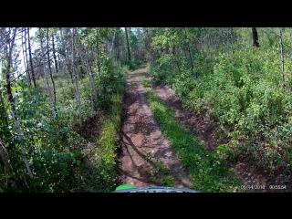 EKEN H9R Enduro forest ride. ActionCam