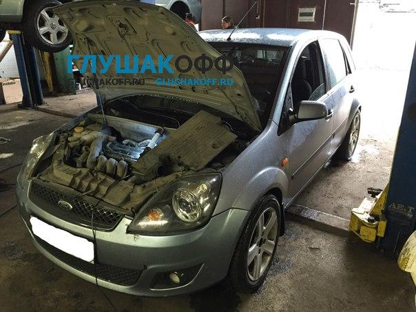 Ford Fiesta - Установка прямоточного выхлопа