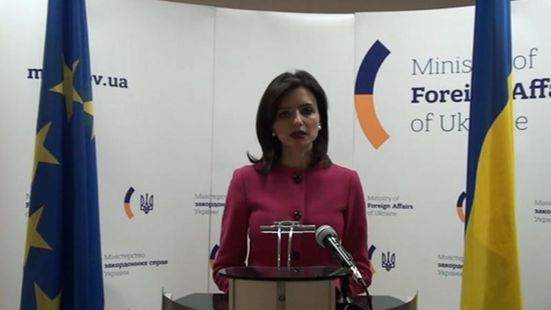 Відеокоментар Речниці МЗС України Мар'яни Беци, 14 березня 2016 року