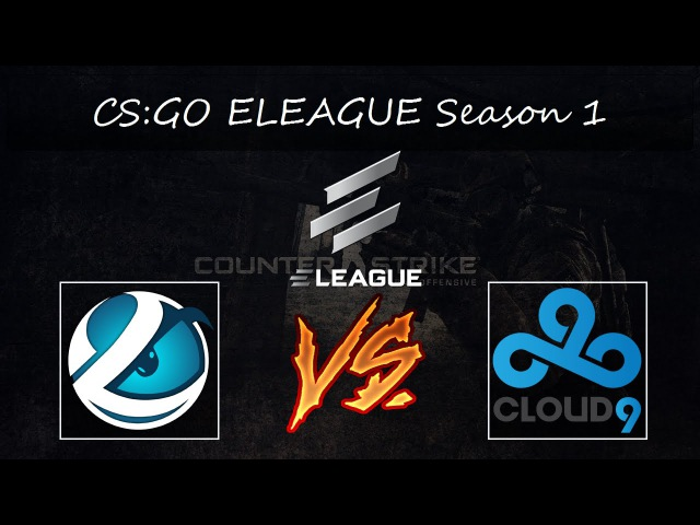 CS:GO Luminosity vs Cloud9 | ELEAGUE Season 1 Group A Grandfinal map2 [Cobblestone] BO3 | 720p 60fps