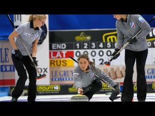 HIGHLIGHTS: RUS-SWE Euro Chps 2015 - Women Draw 8