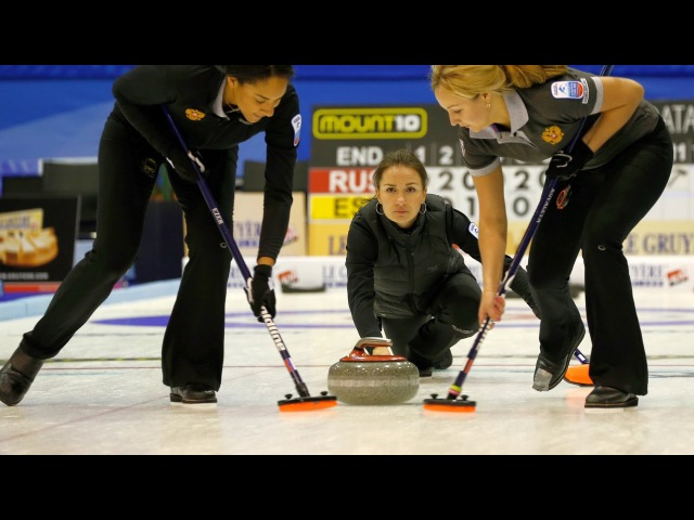 CURLING: RUS-DEN Euro Chps 2015 - Women Semi - HIGHLIGHTS