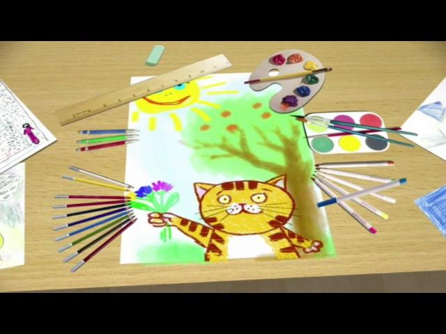 Из чего сделаны краски мультфильм для детей