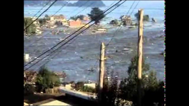 Tsunami Chile en vivo, 2010. Registro completo. Terremoto