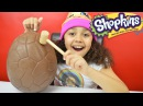 Bashing Giant Shopkins Season 4 Chocolate Surprise Egg | Shopkins Toys Inside | Candy & Toy Review