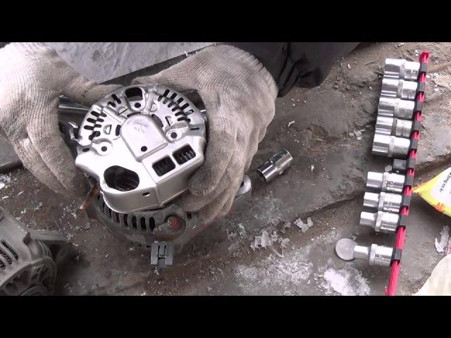 Замена генератора и щеток Camry SV40 3S FE