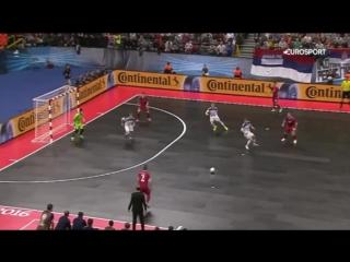 Сербия - Россия 2-3 (11 февраля 2016 г, 1⁄2 финала Чемпионата Европы по мини-футболу)