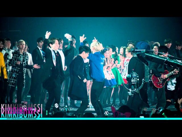 [4K] 151230 KBS 가요대축제 ending _ SHINee (부제세상에서 샤이니가 제일 웃겨)