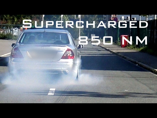 Mercedes E55 AMG V8 Supercharged Acceleration Sound Onboard Autobahn 0 200 Km h