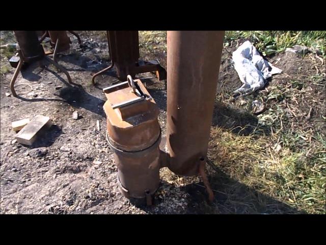 Ракетная печь на опилках длительного горения
