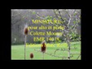 Miniature pour alto et piano, Colette Mourey, EMR 14018, Editions Marc Reift
