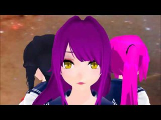MMD Yandere Simulator Anime OP (dont ask about the background)