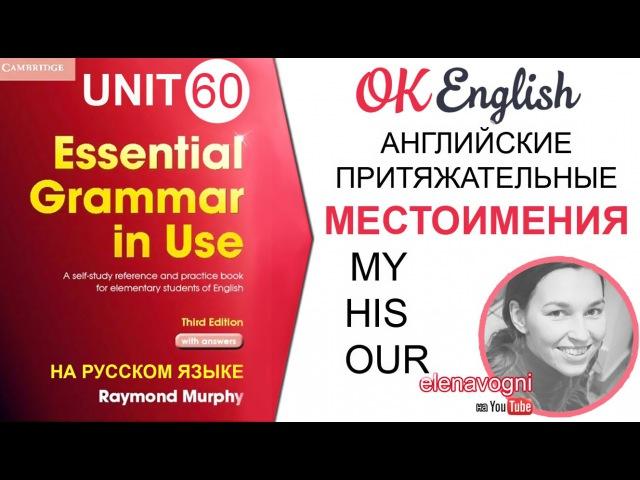 Unit 60 Притяжательные английские местоимения. Уроки английского для начинающих