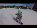 Snowboarding 1-year-old Hits the Slopes Like its no Big Deal