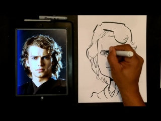 How To Draw A Quick Caricature Anakin Skywalker
