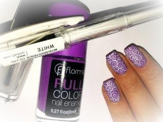 Дизайн ногтей гелевыми ручками // Простой и быстрый рисунок на ногтях