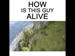 High Base jump how is this guy alive