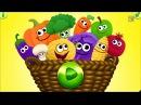 Учим фрукты,ягоды и овощи.Видео уроки для детей 1-5 лет.развивающие мультики для с...