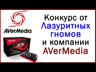 Конкурс от AVerMedia и Лазуритных гномов (приз: Live Gamer Portable)