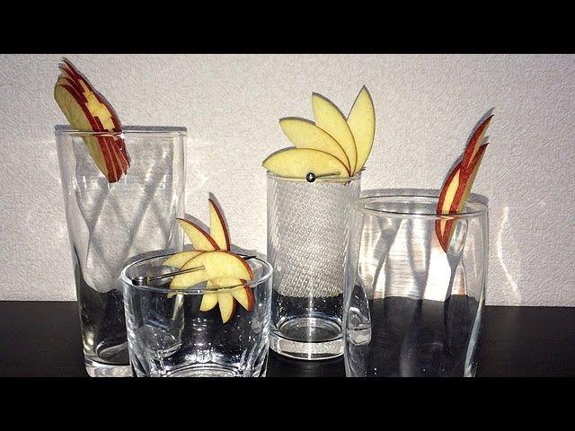 超簡単♪ カクテル・デコレーション(リンゴ編) / Very simple cocktail decoration (apple edition)