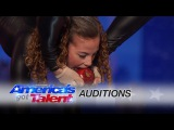 Sofie Dossi: Teen Balancer and Contortionist Shoots a Bow With Her Feet - Americas Got Talent 2016