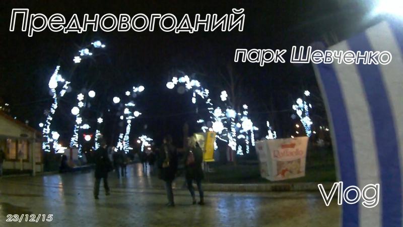 Предновогодний вечерний Киев 3 Парк Шевченко