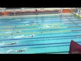 1 этап Mad Wave Challenge 2016 23-24.01.2016г. Питер. Полина на 4 дор в розовой шапочке. 100м кроль. Золото!!! Ура!!!