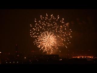Смотреть до конца! Салют 24.7.16 #салют #праздник #вечерняямосква #видизокна  #Фестивальфейерверков