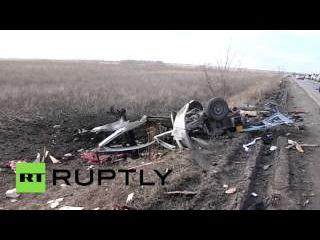 На КПП в Донбассе пассажирский автобус подорвался на мине