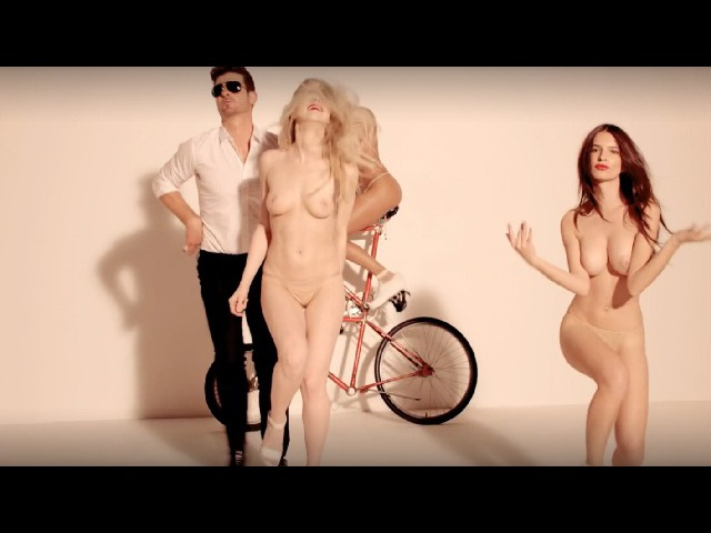 Robin Thicke Blurred Lines ft T I Pharrell Unrated Version