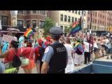 Street preacher Protesting Gay Pride Parade Chicago 2016