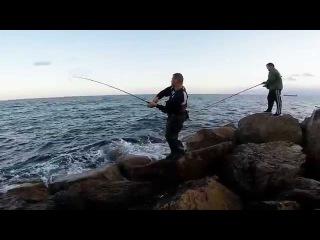 דייג   Fishing in israel   פלמידה טונית   Erez Cohen Spinning Fishing   spanish mackerel   shore jig