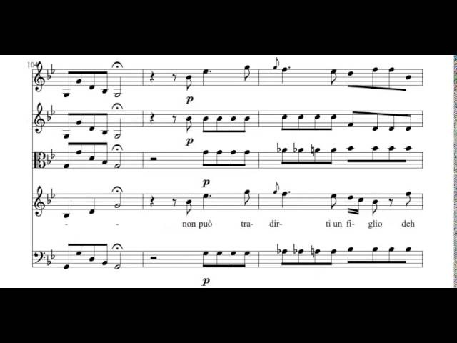 Spesso Tra Vaghe Rose (Bajazet - A. Vivaldi) Score Animation