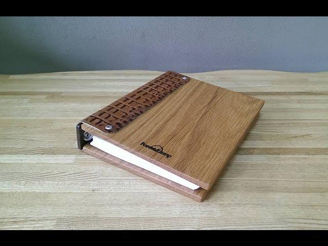 КАК СДЕЛАТЬ БЛОКНОТ СВОИМИ РУКАМИ DIY -/ Notepad with covers made of wood with leather trim » Freewka.com - Смотреть онлайн в хорощем качестве
