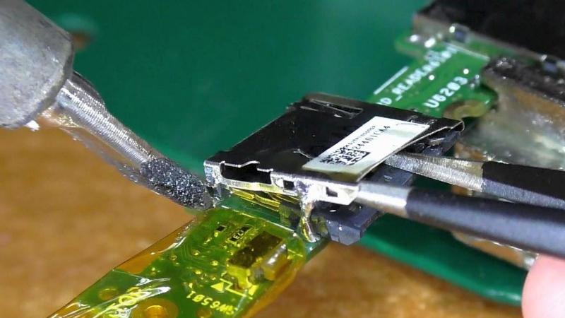 Не читает карты памяти / Восстановление слота microSD. Планшет Asus TF300TG. РЕМОНТ
