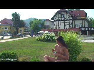 Alena Nude in Public 2