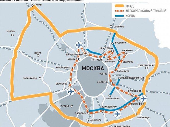 План легкое метро в подмосковье