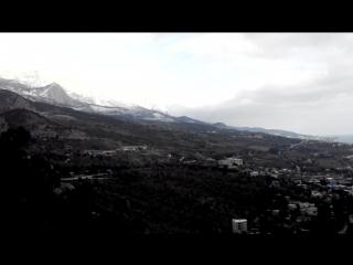 Симеиз. Гора Кошка. Вид на заснеженные вершины