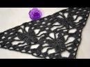Узор крючком для шали Ночная бабочка • Бактус с бабочками • Crochet Night butterfly shawl